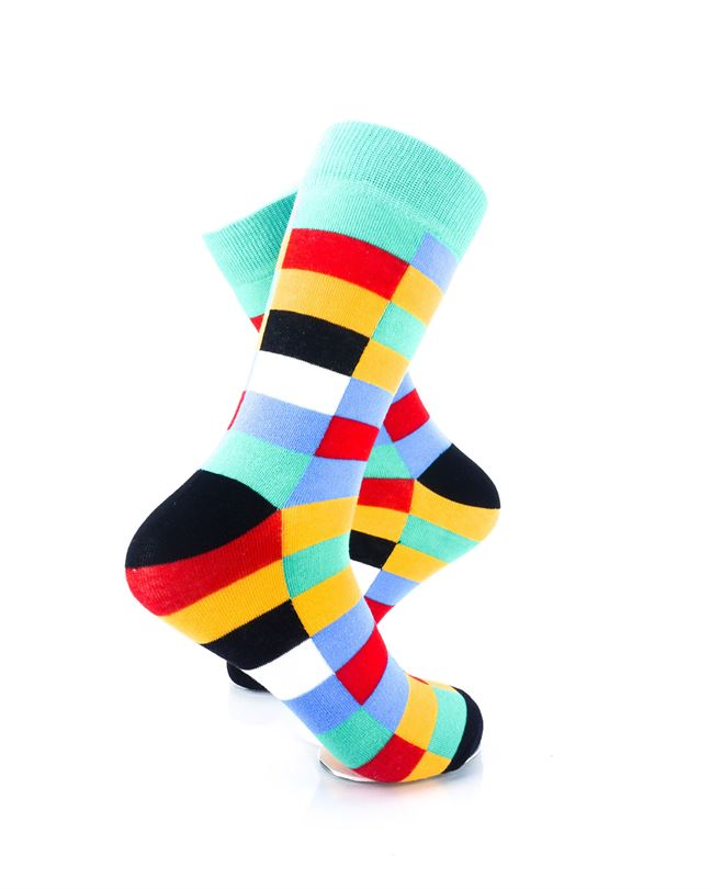 CoolDeSocks Retro Bar Colorful Socks Right View Image