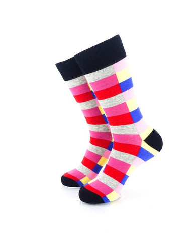 CoolDeSocks Retro Bar Red Socks Front View Image