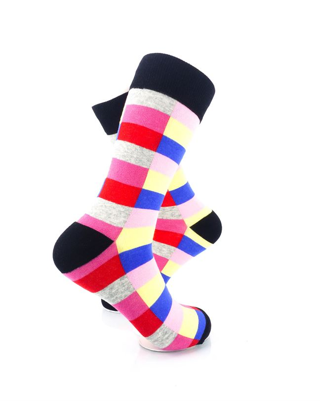 CoolDeSocks Retro Bar Red Socks Right View Image