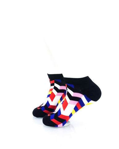 CoolDeSocks Retro Disco Ankle Socks left view image
