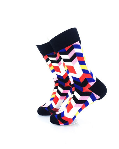CoolDeSocks Retro Disco Crew Socks Left View Image