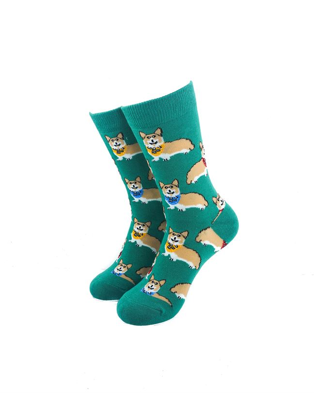 CoolDeSocks Royal Corgis Socks front view image