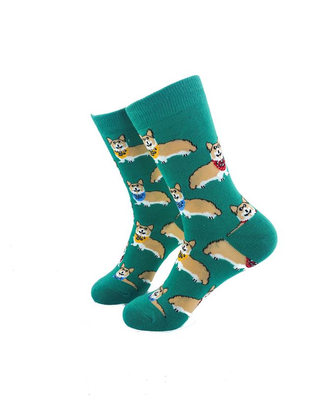 CoolDeSocks Royal Corgis Socks left view image
