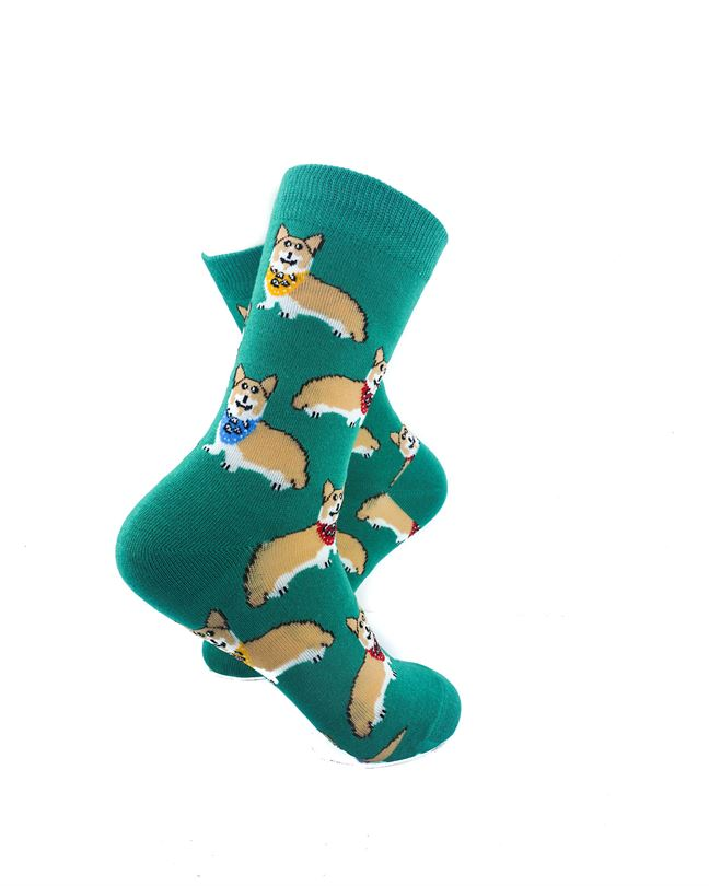 CoolDeSocks Royal Corgis Socks right view image