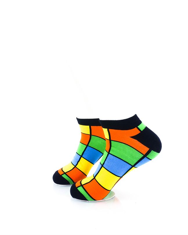 CoolDeSocks Rubik Colorful Ankle Socks left view image