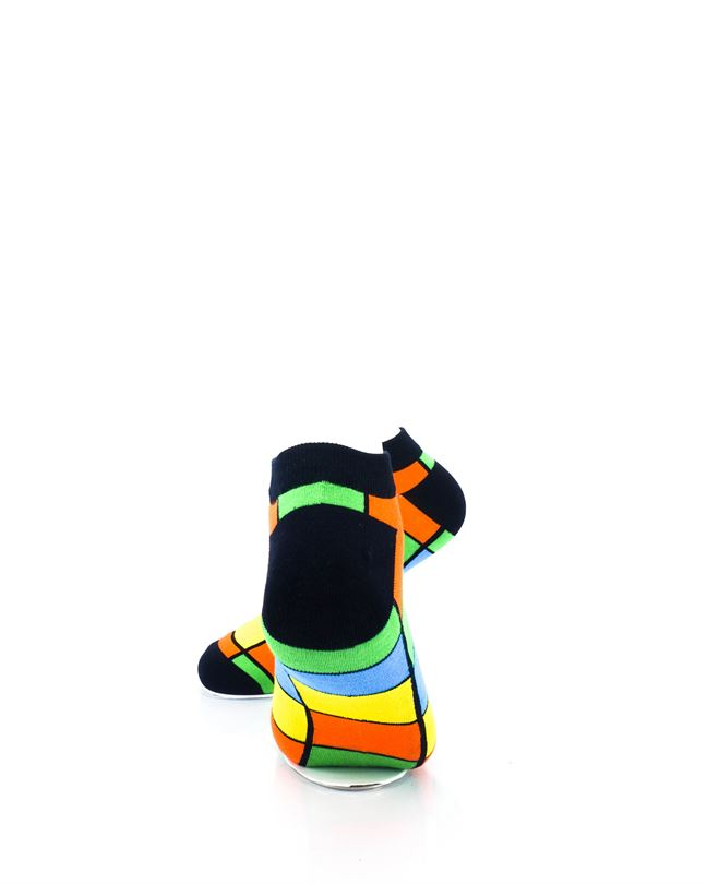 CoolDeSocks Rubik Colorful Ankle Socks rear view image