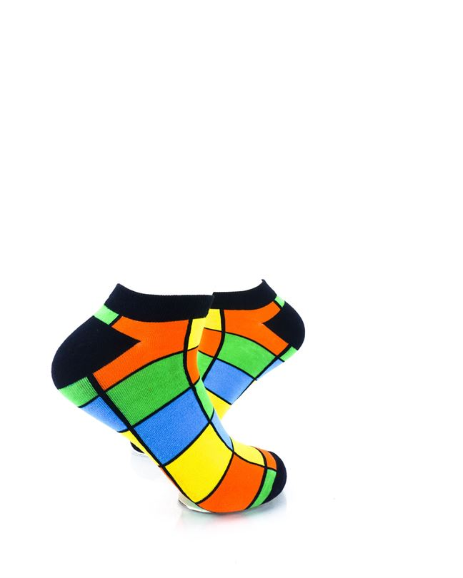 CoolDeSocks Rubik Colorful Ankle Socks right view image