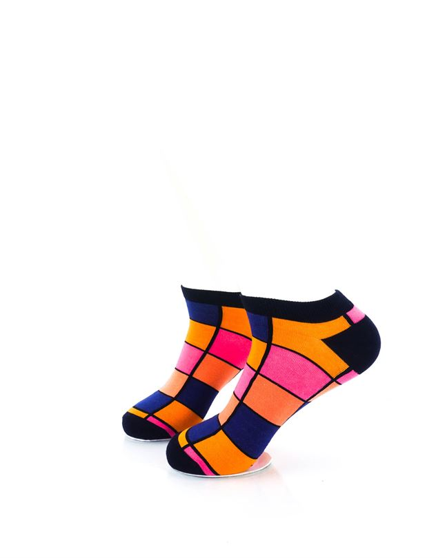 CoolDeSocks Rubik Orange Ankle Socks left view image