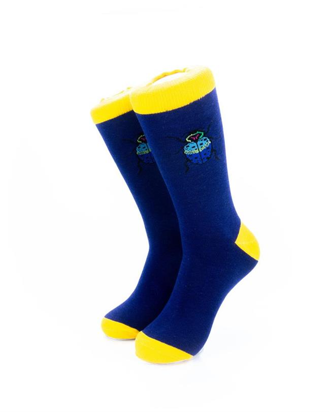 cooldesocks scarab crew socks front view