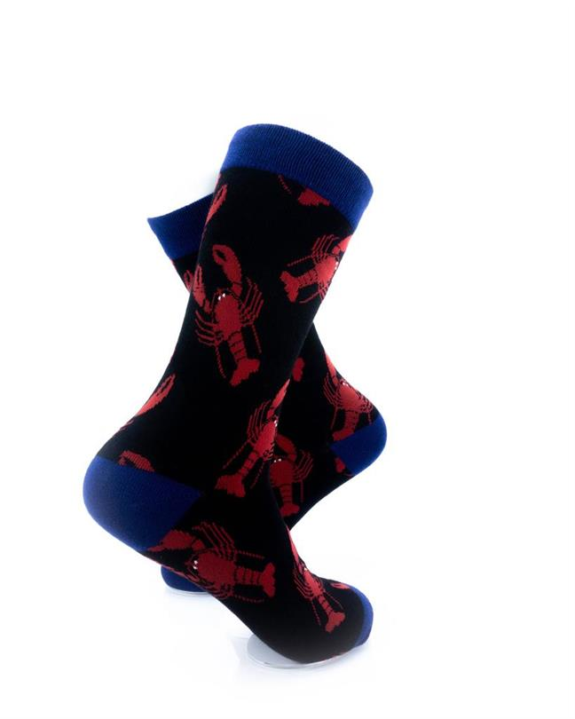 CoolDeSocks Seafood - Red Lobster Socks right view image