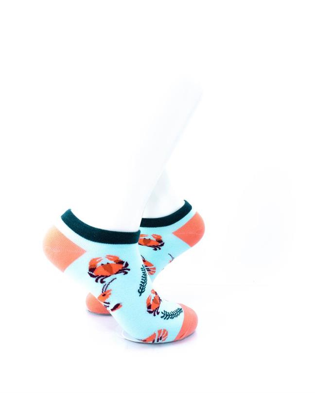 CoolDeSocks Shrimp Seafood Socks right view image