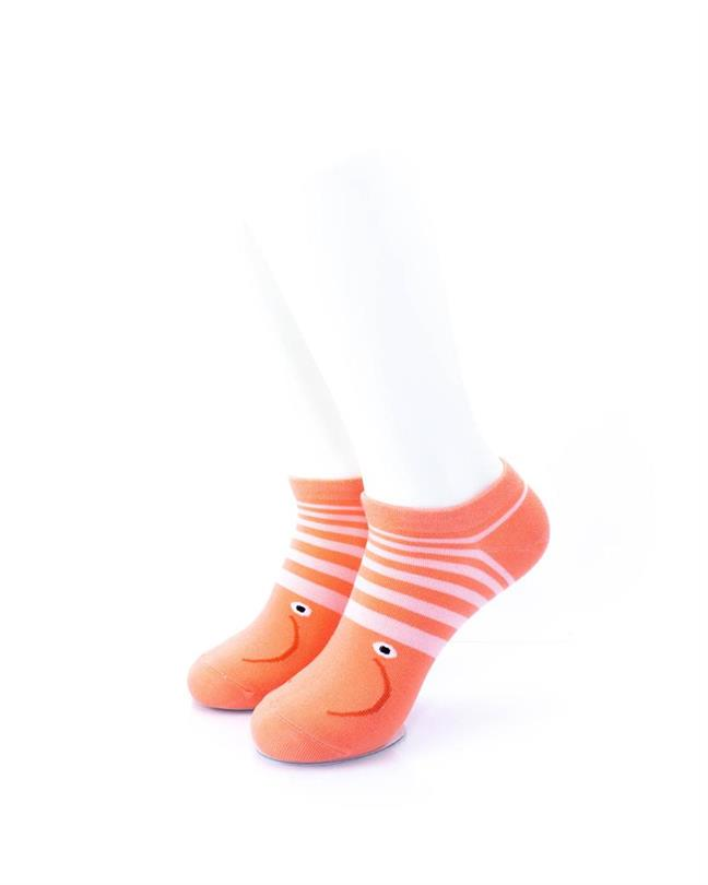CoolDeSocks Shrimp Smile Socks front view image