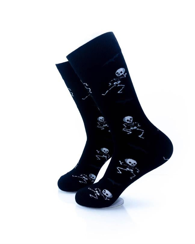 CoolDeSocks Skeleton Dance Socks left view image