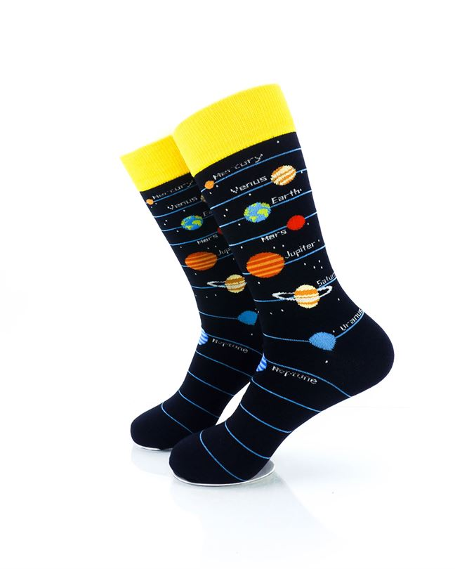 CoolDeSocks Solar System 2 Crew Socks left view image
