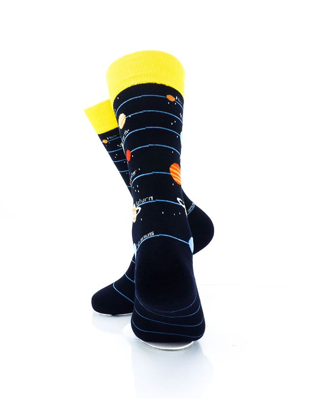 CoolDeSocks Solar System 2 Crew Socks rear view image