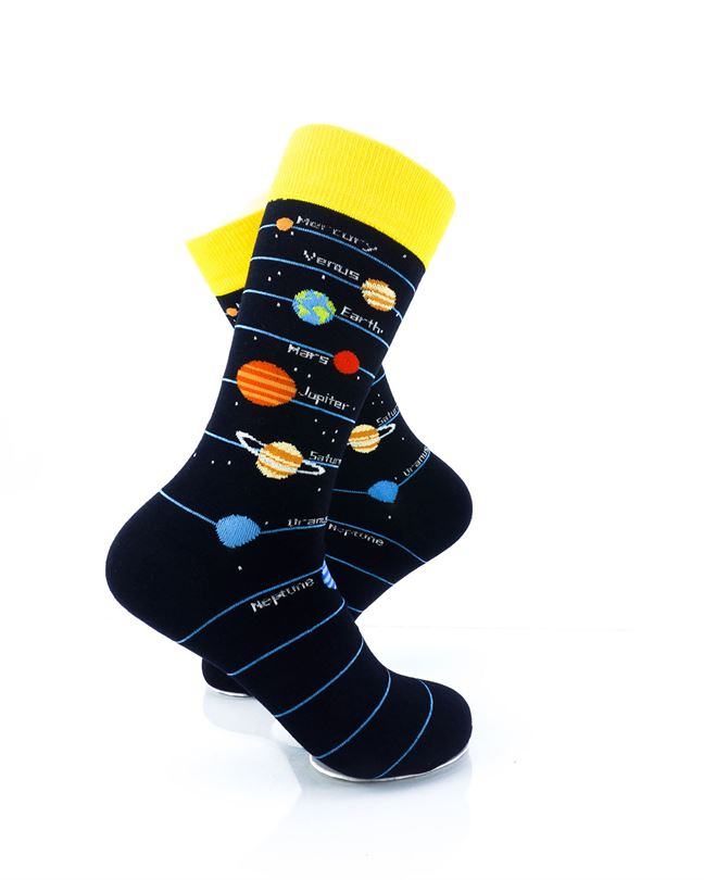 CoolDeSocks Solar System 2 Crew Socks right view image
