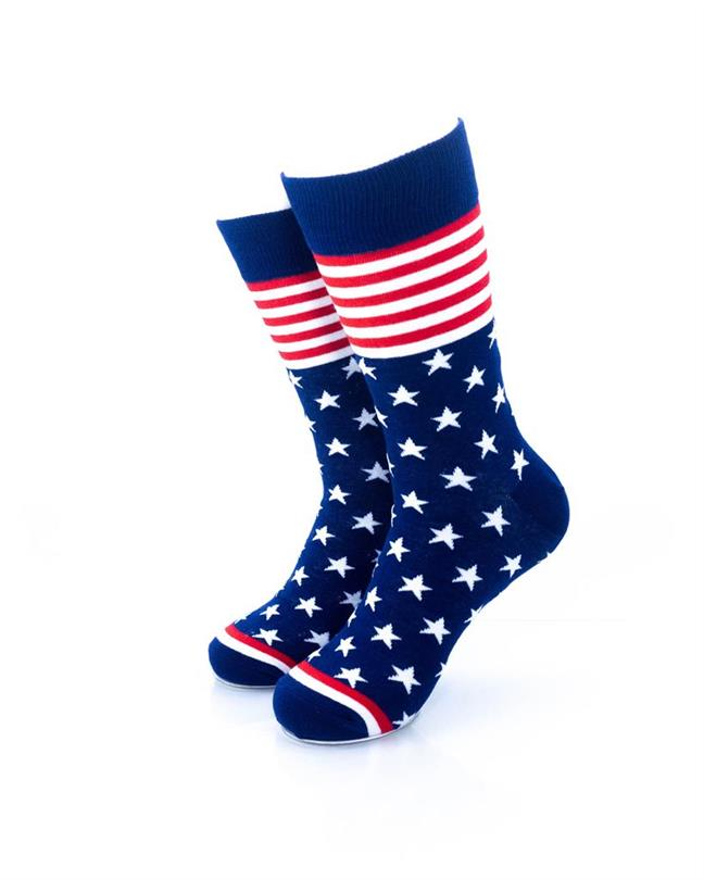 CoolDeSocks Star Spangled - Blue Socks front view image