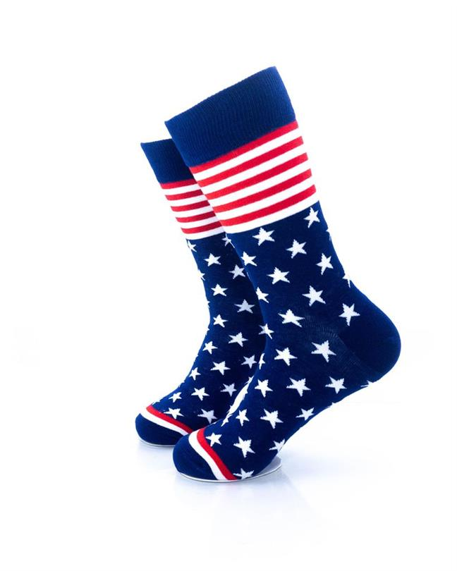 CoolDeSocks Star Spangled - Blue Socks left view image