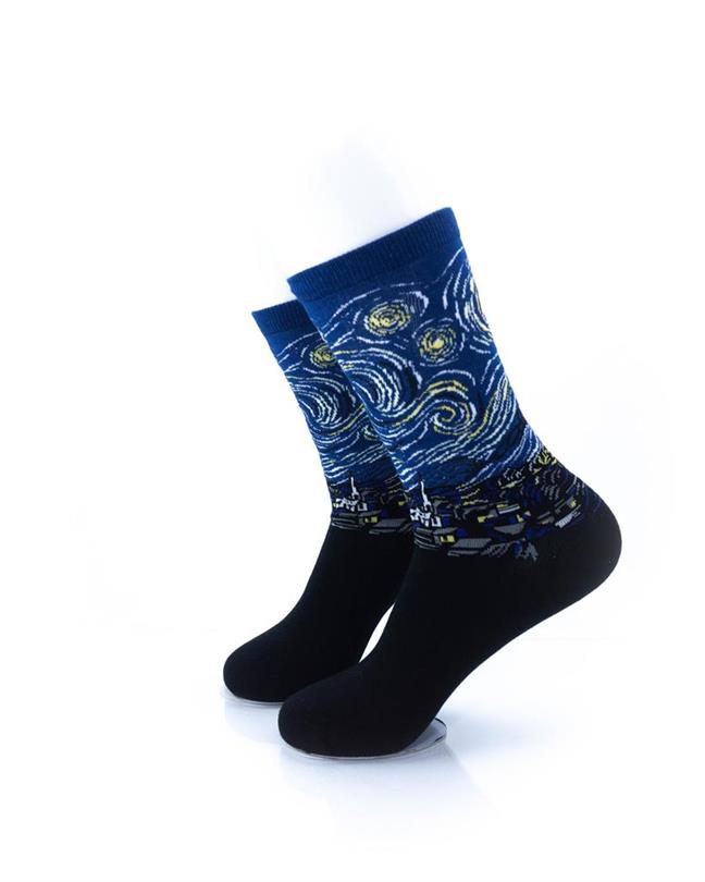 CoolDeSocks Starry Night Socks left view image
