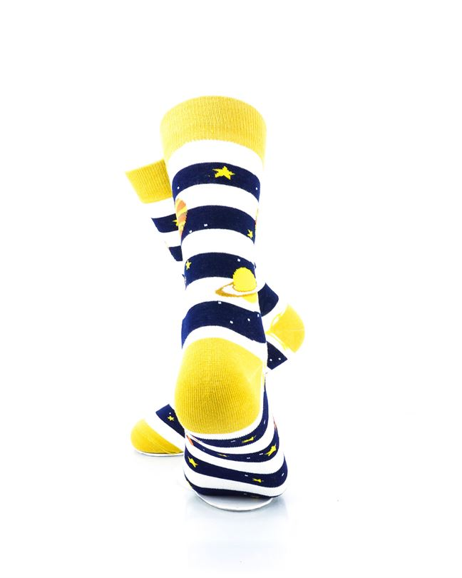cooldesocks striped galaxy crew socks rear view