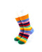 cooldesocks striped neo colorful crew socks front view