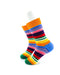 cooldesocks striped neo colorful crew socks left view