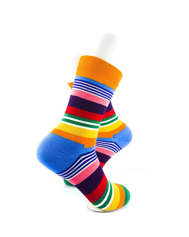 cooldesocks striped neo colorful crew socks right view