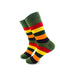 cooldesocks striped vintage neon green crew socks left view image