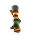 cooldesocks striped vintage neon green crew socks rear view image