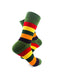cooldesocks striped vintage neon green crew socks right view image
