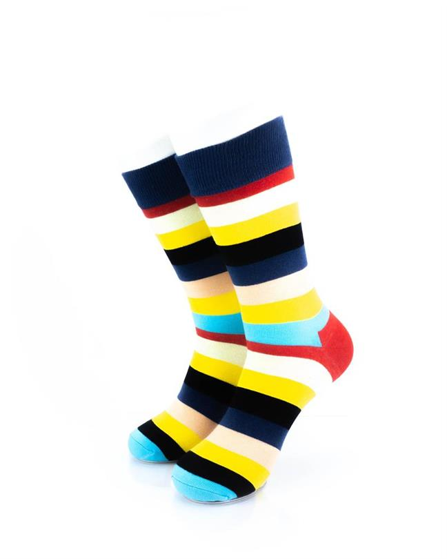 CoolDeSocks Striped (Neon) Socks front view image