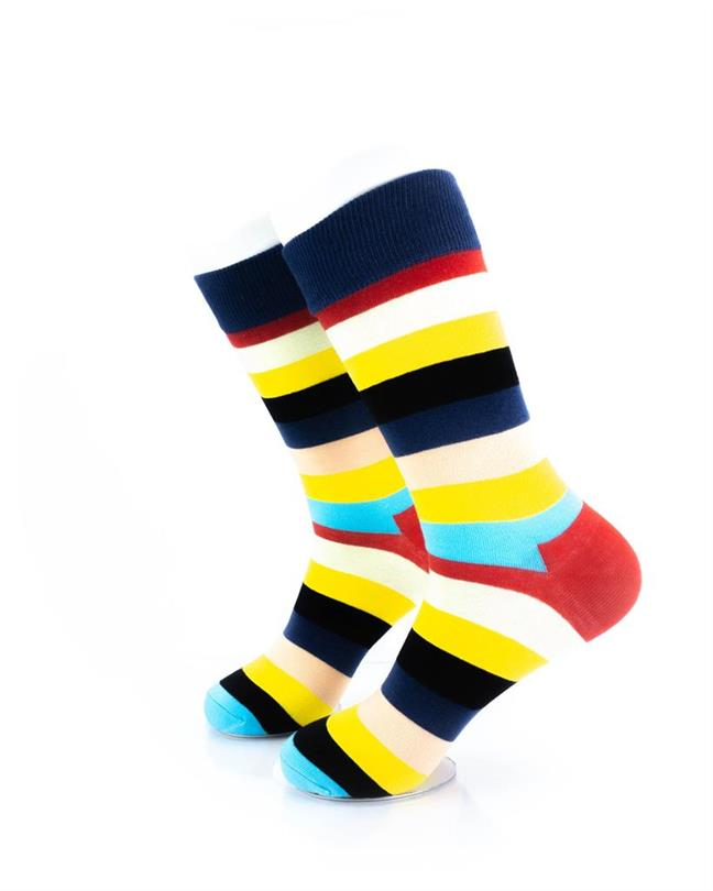 CoolDeSocks Striped (Neon) Socks left view image