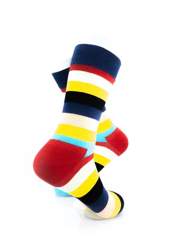 CoolDeSocks Striped (Neon) Socks right view image