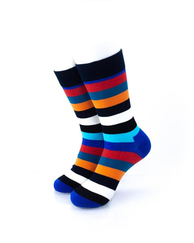 CoolDeSocks Striped (New Edition) Socks front view image