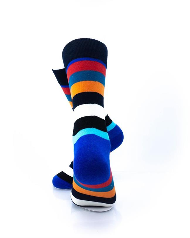 CoolDeSocks Striped (New Edition) Socks rear view image