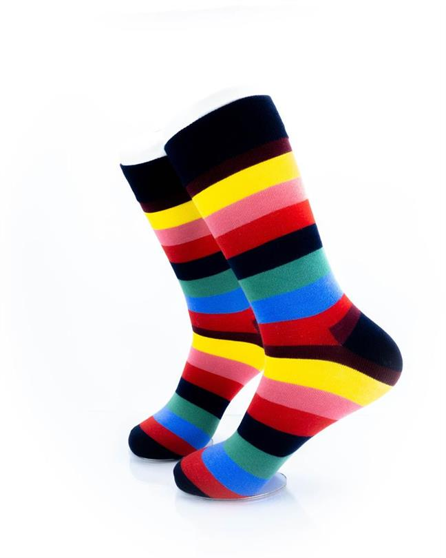 CoolDeSocks Striped (Rainbow) Socks left view image