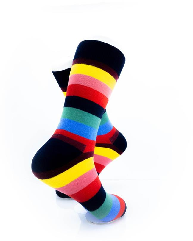 CoolDeSocks Striped (Rainbow) Socks right view image