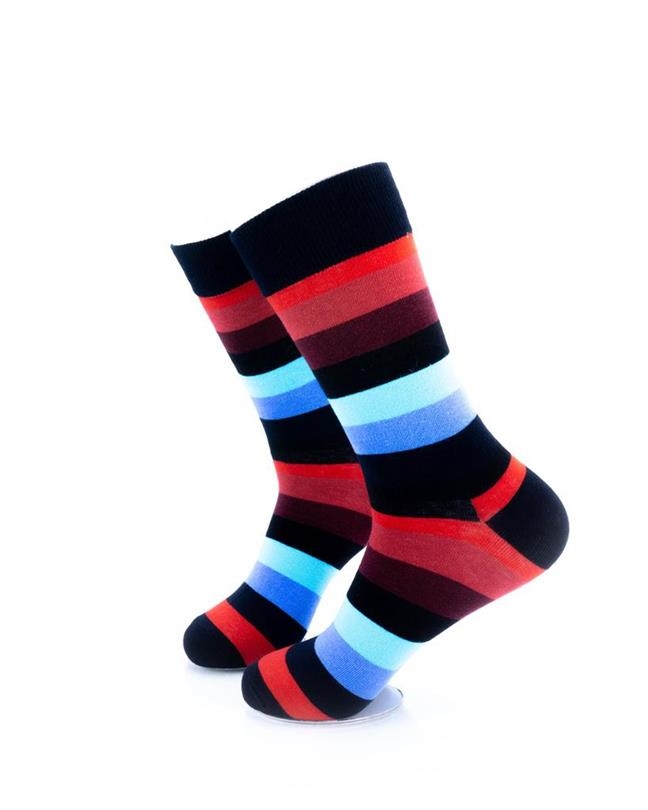 CoolDeSocks Striped (Red Blue) Socks left view image