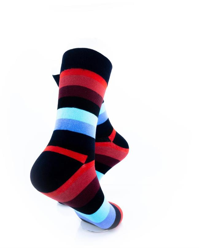 CoolDeSocks Striped (Red Blue) Socks right view image