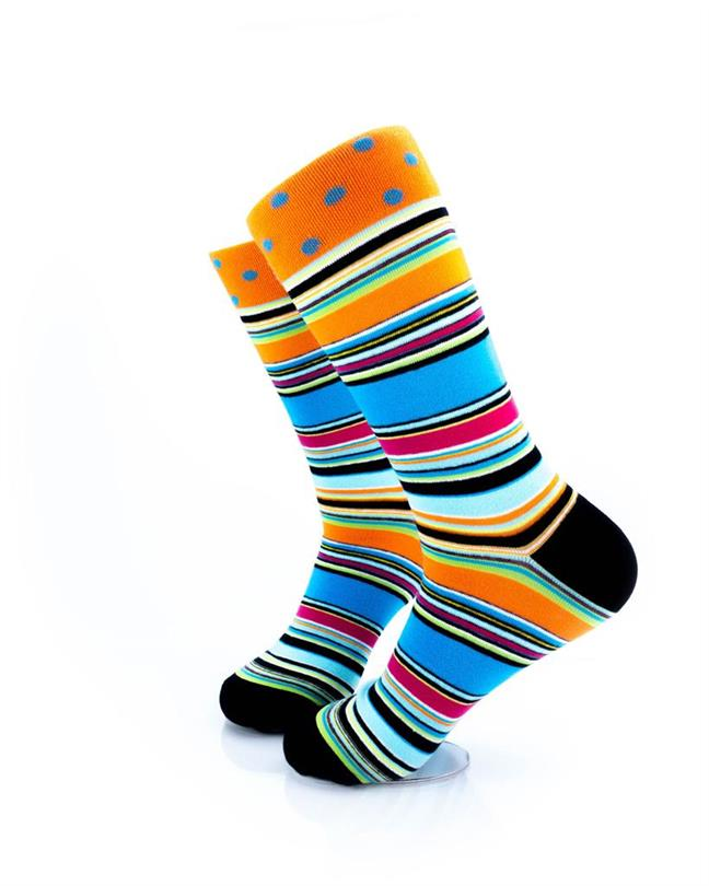 CoolDeSocks Stripped Psychedelic Socks left view image