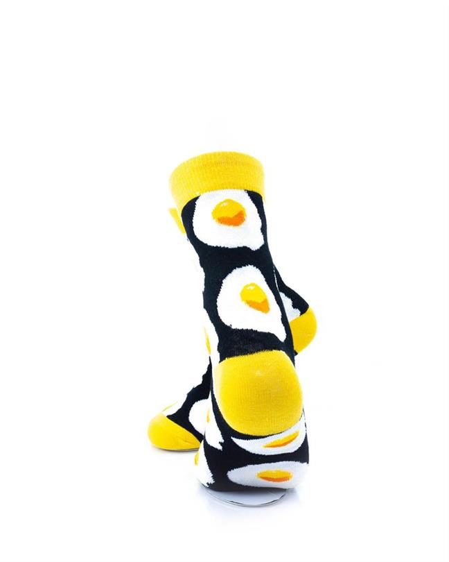 CoolDeSocks Sunny Side Up (Q) Socks rear view image