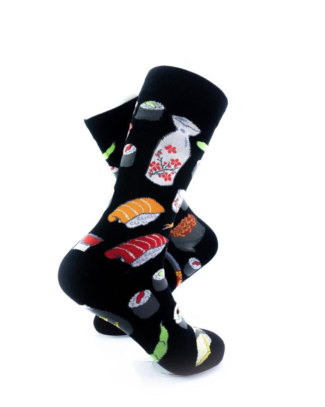 cooldesocks sushi black crew socks right view