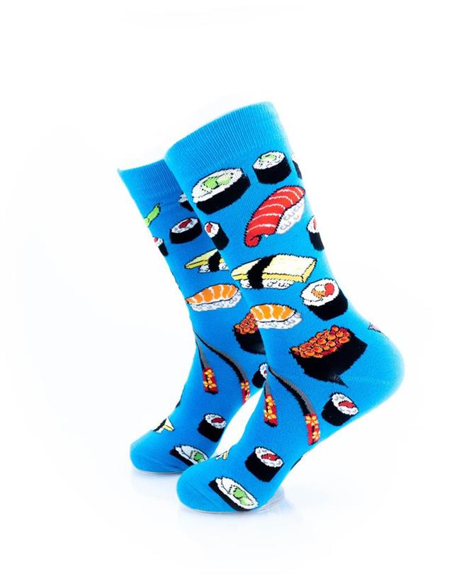 CoolDeSocks Sushi - Blue Socks left view image