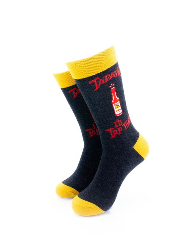 CoolDeSocks Tapatio Hot Sauce Socks front view image