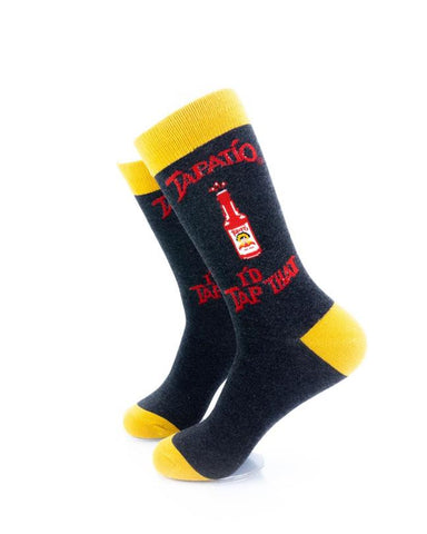 CoolDeSocks Tapatio Hot Sauce Socks left view image