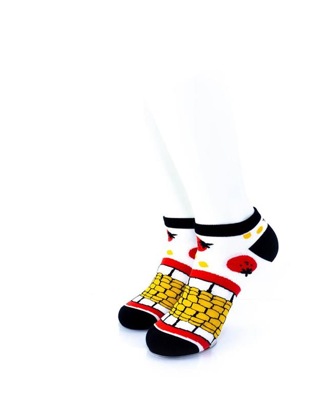 cooldesocks tomato corn ankle socks front view