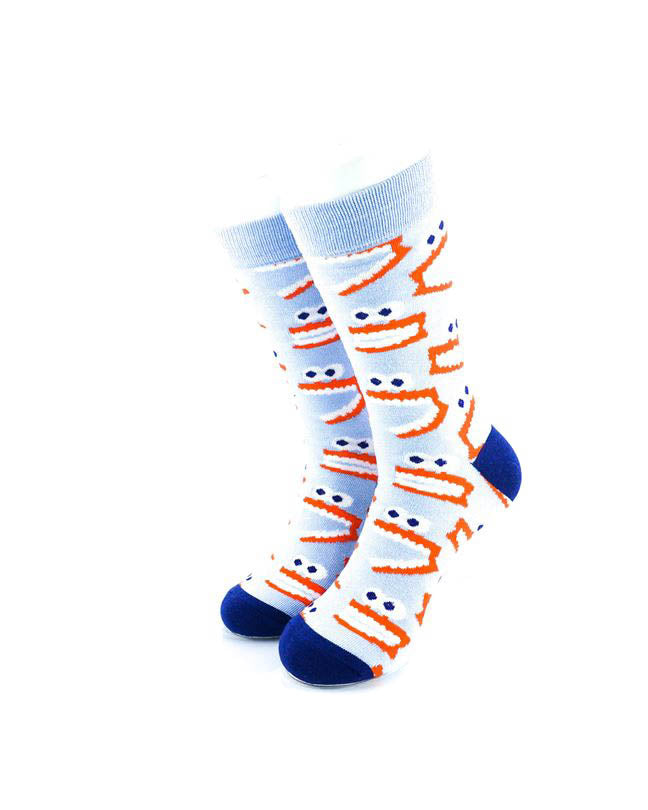 cooldesocks tooth monster crew socks front view image
