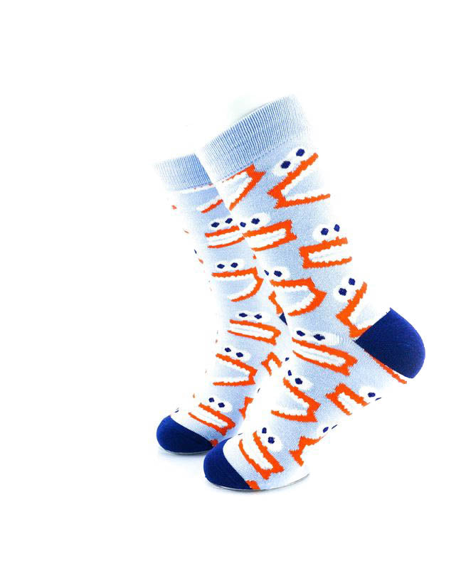 cooldesocks tooth monster crew socks left view image