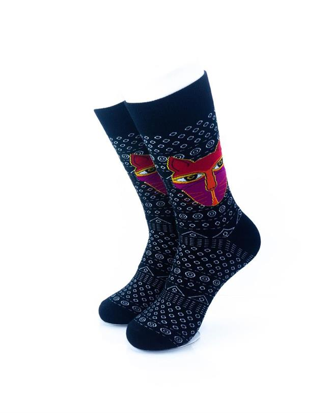 CoolDeSocks Tribal - Cat in Black Socks front view image