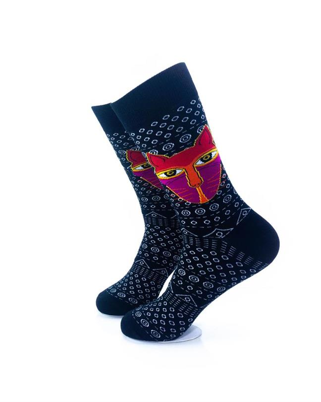 CoolDeSocks Tribal - Cat in Black Socks left view image